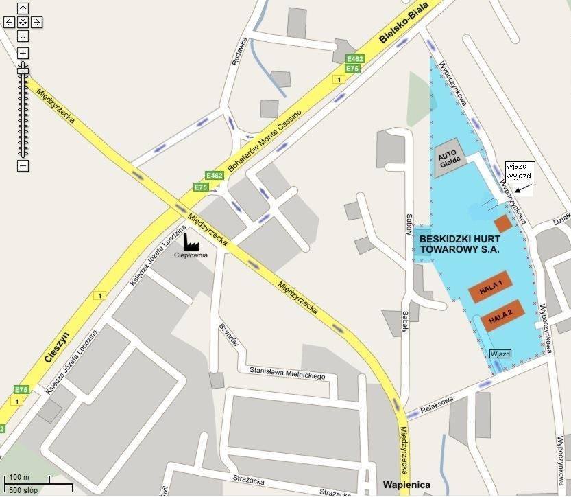 Mapa dojazu